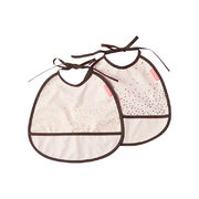 Done by Deer Tiny Bib ruokaliina 2-pack, puuteri