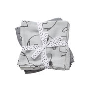 Done by Deer Contour Burp Cloth Harsot Harmaa (2-pack)