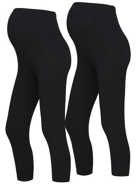 Mamalicious Sofia Äitiysleggings 3/4 Black (2-pack)